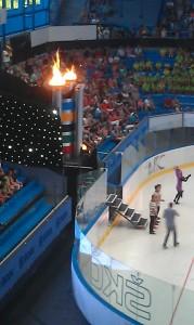 Olympijský oheň.