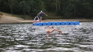 Plavání na otevřené vodě - Mšenská přehrada v Jablonci.