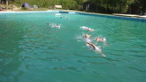 Plavecká část.