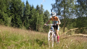 Cyklistická část - závod se jel na čtyřech okruzích MTB.